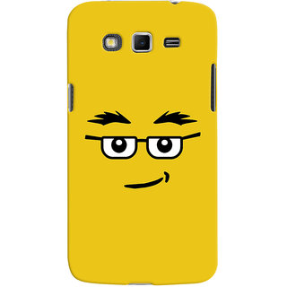 ColourCrust Quirky Smiley Expression Printed Designer Back Cover For Samsung Galaxy Grand 2 G7106 Mobile Phone - Matte Finish Hard Plastic Slim Case