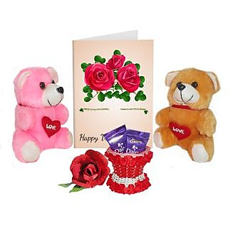 Buy beautyful 3d printed greeting card gift with teddys chocolates beautyful 3d printed greeting card gift with teddys chocolates a rose with basket a best combination gift presesent for your love m4hsunfo