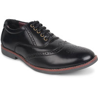 Adreno Brogue Men's Black Lace-up Formal Shoes