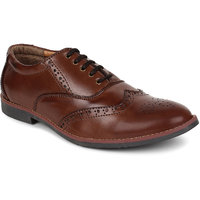 Adreno Brogue Men's Brown Lace-up Formal Shoes