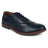Adreno Brogue Men's Navy Lace-up Formal Shoes