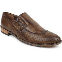 Adreno Kolin Men's Brown Slip On Formal Shoes