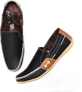 Blue Pop Men Black Loafer