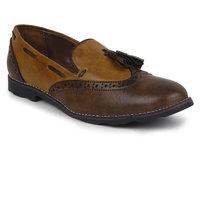 Adreno Tassel Men's Brown Slip On Formal Shoes