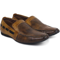 Adreno Venice Men's Brown Slip On Formal Shoes