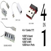 4 IN 1 COMBO OF USB DEVICES WITH ONE YEAR MANUFACTURER WARRANTY