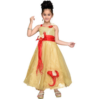 d00159fa2 Buy Aarika Girls Self Design Net Fabric Party Wear Ball Gown Online ...