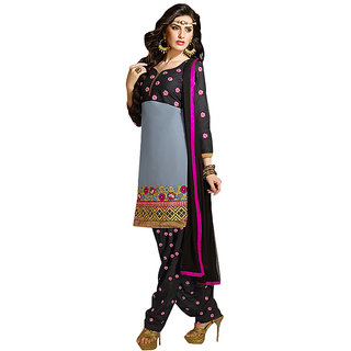 Sinina Chanderi Cotton Patiala Salwar Kameez Suit Unstitched Dress MaterialK12PHV7308