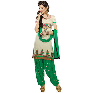 Sinina Chanderi Cotton Patiala Salwar Kameez Suit Unstitched Dress MaterialK12PHV7311