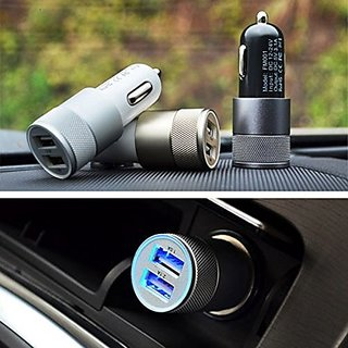 Universal Dual 2 Ports USB Car Charger and free Card Reader CODEuv-4384