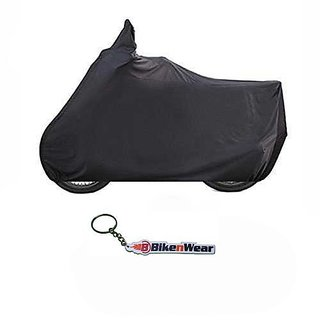 Water Proof Body Cover For Bajaj Discover 100T Black With Key Chain