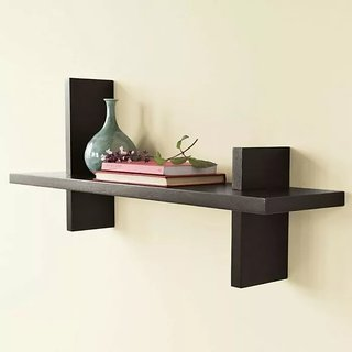 Onlineshoppee Home Decor Wall Hanging Fancy Bracket MDF Wall Shelf Size-lxbxh-22.5x5x7 Inch
