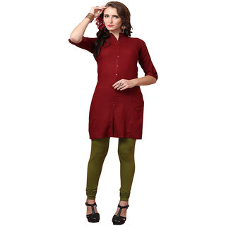 Minu Suits Maroon Casual Floral Print Women's Kurti