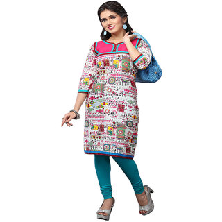 Minu Suits Multicoloured Casual Floral Print Women's Kurti