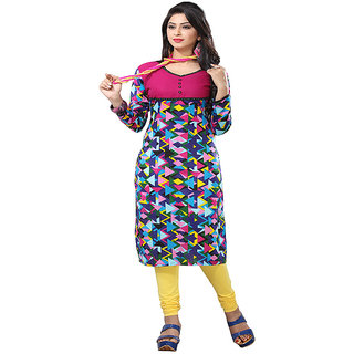 Minu Suits Multicoloured Casual Floral Print Women's Kurti