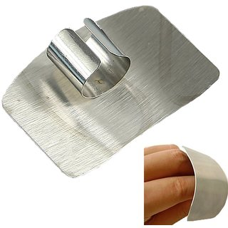 KREATIVE KUDIE Stainless steel finger protector Hand Guard knife slice cutting chop shield safe protection
