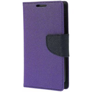 Mercury Wallet Flip case cover for Micromax A106 Unite 2  (PURPLE)