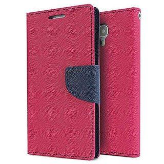Mercury Wallet Flip case cover for Sony Xperia M4 Aqua Dual  (PINK)
