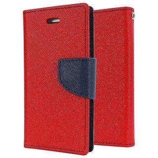 Mercury Wallet Flip case cover for Lenovo Vibe P1  (RED)