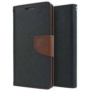 Mercury Wallet Flip case cover for Lenovo A2010  (BROWN)