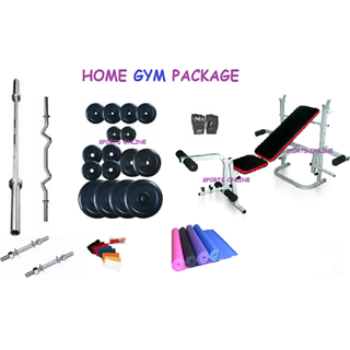 Bodyfit 100 Kg Home Gym+5 In 1 Multi Function Bench +4 Rods+Fitness Acc