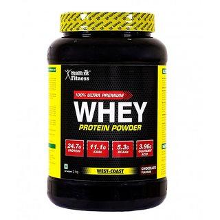Healthvit 100 Ultra Premium Whey Protein - 2kg/4.4lbs (Chocolate Flavour)