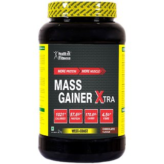 Healthvit Mass Gainer Xtra Chocolate Flavour 2kg / 4.4 lbs