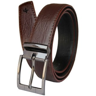 Brown PU leather Belt for Men (Synthetic leather/Rexine)