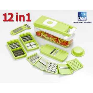 Ganesh 12 in 1 Quick Slicer Dicer Multi-Chopper Fruit and Vegetable Cutter
