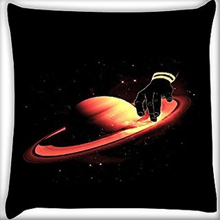 Snoogg Planet Table 12 X 12 Inch Throw Pillow Case Sham Pattern Zipper Pillowslip Pillowcase For Drawing Room Sofa Couch Chair Back Seat