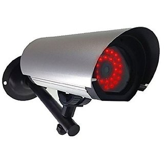 CCTV Security Camera With Flashing Red Light