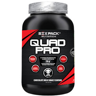 Six Pack Nutrtion - Quad Pro-1Kg-Chocolate Milk Shake