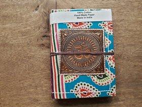 Recycled Bronze metal handmade paper diary Rajasthani look