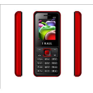 IKall K20 (Dual Sim, 1.8 Inch Display, 800 Mah Battery, Made In India,  Black-Red)