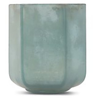 Bubblewrap Store Teal Angular Mercury Glass Tea Light Holder