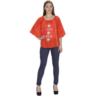Famous by payal kapoor orange top