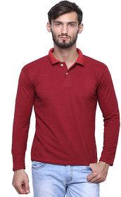 Grand Bear Men's Maroon Polo Collar T-Shirt