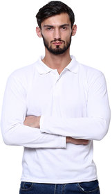 Grand Bear Men's White Polo Collar T-Shirt