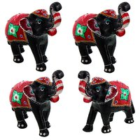 Gomati Ethnic Home Dcor Paper Mache Elephant Pair Showpiece Gifts Handicraft With Paper Mache Elephant Pair Showpiece Gifts Handicraft-COMB399