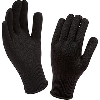 Oshop Trades Woolen Black Gloves