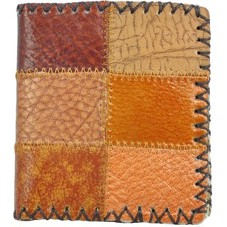 Alphaman POWER WEALTH SUCCESS FUTURE Leather Dual Fold Border-Stitched Wallet(Minimum Order Quantity 10)