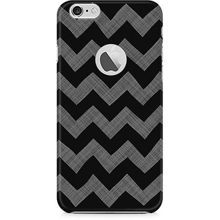 CopyCatz Cheveron Shades of Grey Premium Printed Case For Apple iPhone 6/6s with hole