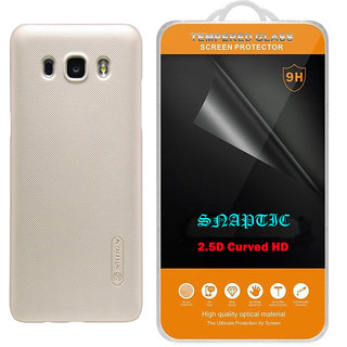 Buy Snaptic Nillkin Super Frosted Golden Hard Cover and 25D HD Tempered Glass for Oppo F1s Online - Get 56% Off