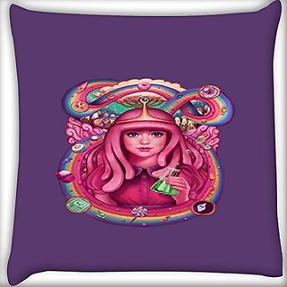 Snoogg Pink Lady Queen 12 X 12 Inch Throw Pillow Case Sham Pattern Zipper Pillowslip Pillowcase For Drawing Room Sofa Couch Chair Back Seat