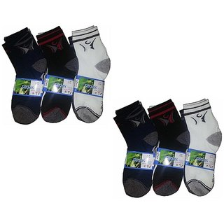 Mens Ankle Length Socks Pack of 6