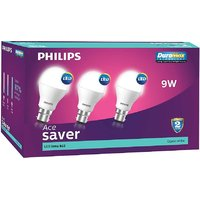 Eveready 9W LED Bulbs With Free 6 Pc Eveready Battery (Pack Of 3)