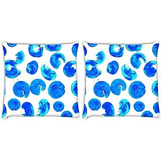Snoogg Pack Of 2 Digitally Printed Cushion Cover Pillows 22 X 22 Inch
