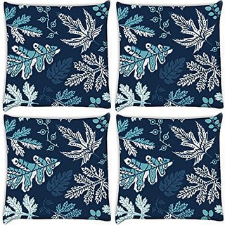 Snoogg Pack Of 4 Digitally Printed Cushion Cover Pillows 24 X 24 Inch