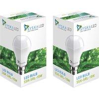 Syska Led Lights 15 W, 18 W B22 LED Bulb  (White, Pack Of 2)