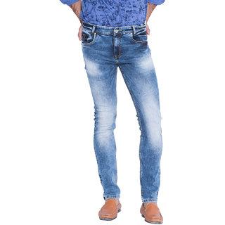 Mufti Men's Blue Slim Fit Jeans